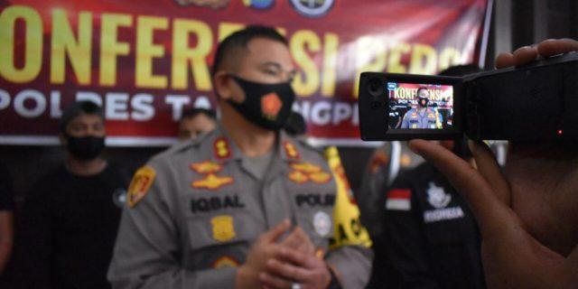 Polres Tanjungpinang Konferensi Pers Tindak Pidana Pencurian Dengan Kekerasan