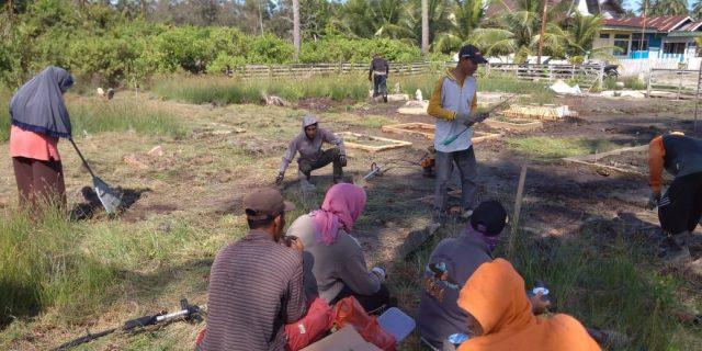 Masyarakat Desa Baran Melintang Gelar Gotong royong Bersama