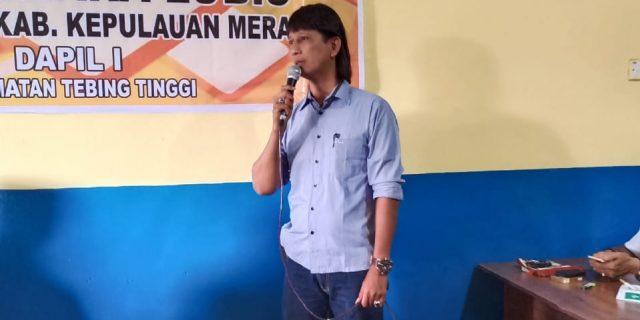 Anggota DPRD Meranti Dedi Yuhara Lubis Gelar Reses Perdana Untuk Menampung Aspirasi Masyarakat