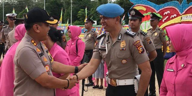 Sebanyak 61 Personil Polisi Di Mapolres Meranti Naik Pangkat