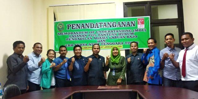 PA Labuan Bajo Teken MoU Dengan LBH Surya NTT Untuk Bantu Masyarakat Miskin