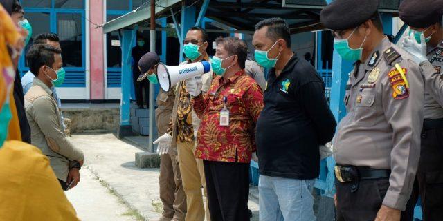 Asisten I Sekdakab Meranti Tinjau Kesiapan Tim Medis Antisipasi Covid-19 Meranti di Pelabuhan Tj. Harapan