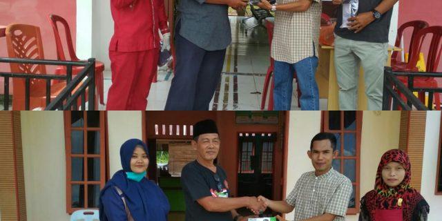 KNPI Pulau Merbau Bantu Masker untuk Petugas Puskesmas dan Kantor Desa