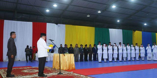 Bupati Meranti,H.Irwan Kukuhkan Pasukan Paskibraka HUT RI Ke-73 Tahun 2018