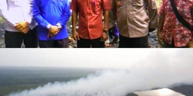 Kapolres Kepulauan Meranti,AKBP Taufiq Lukman Bersama Jajarannya Padamkan Sijago Merah di Desa Penyagun dan Desa Gemala Sari