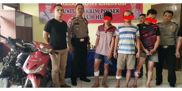 Tiga Tersangka Pencuri Baterai dan Kabel Tembaga 'Dihadiahi' Timah Panas Oleh Petugas Unit Reskrim Polsek Kualuh Hulu