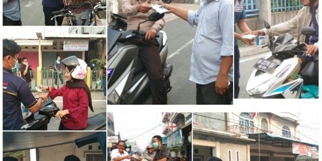 Cegah ISPA Akibat Kabut Asap,DPC MOI Meranti Bagi-Bagi Masker Gratis