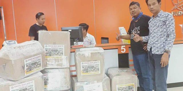 Pasca Gempa Lombok : KMB Kirim Bantuan 14 Dus/250 Kg Pakaian ke Posko Bencana Lombok
