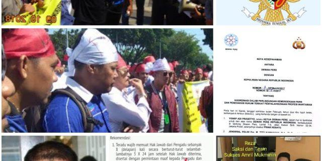 Kecam Bupati Bengkalis,Solidaritas Pers Riau Siapkan Aksi Jilid II,Massa Pers Minta Presiden Jokowi Turun Tangan