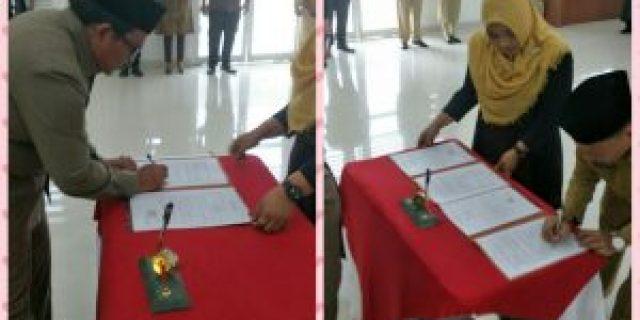 Bupati Labuhanbatu Pangonal Harahap,Lantik Ahmad Mufli Jadi Sekda Defenitif