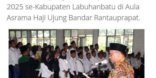 Bupati Labuhanbatu H.Andi Suhaimi Dalimunthe,ST,MT Resmikan Pengurus BPD Periode 2019-2024