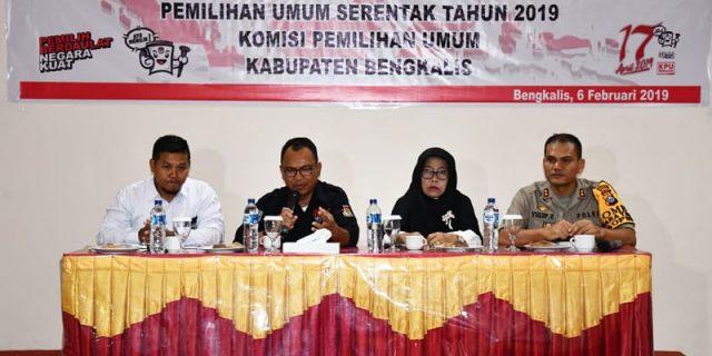 KPU Kabupaten Bengkalis, Menggelar Rapat Koordinasi Pemilihan Umum Tahun 2019