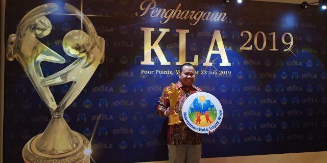 Bupati Meranti,H.Irwan Terima Penghargaan KLA dari Kementerian PPPA RI