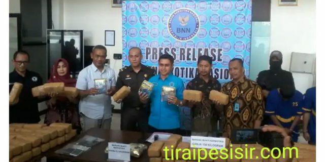 BNN Banten Amankan 3 Orang Kurir Narkotika 5,2 Kg Sabu Dan 150 Kg Ganja