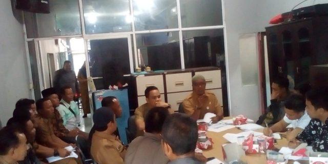 H.Edi.M.Nur,Pimpin  Rapat Koordinasi Penyusunan Pembentukan Panitia Pilkades 2019