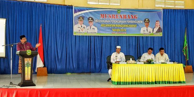 Sekda Buka Musrenbang RKPD Kecamatan Rangsang Barat, Serap Aspirasi Masyarakat Membangun Daerah