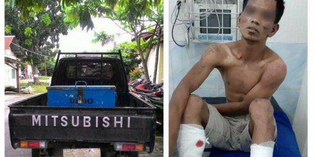 Maling Mobil Pick-up Ditembak Polisi