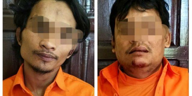 2 Pencuri Baterai Mobil Ditangkap Polsek Tapung Hulu