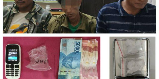 3 Pengedar Shabu Desa Muara Uwai Ditangkap