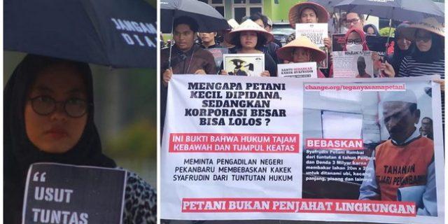 Founder Aksi Kamisan Pekanbaru Dukung Vonis Bebas Petani Rumbai