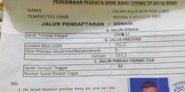 Warga Kesal,Oknum Petugas PPDB UPT SMPN 29 Medan Diduga Rubah Jalur Zonasi